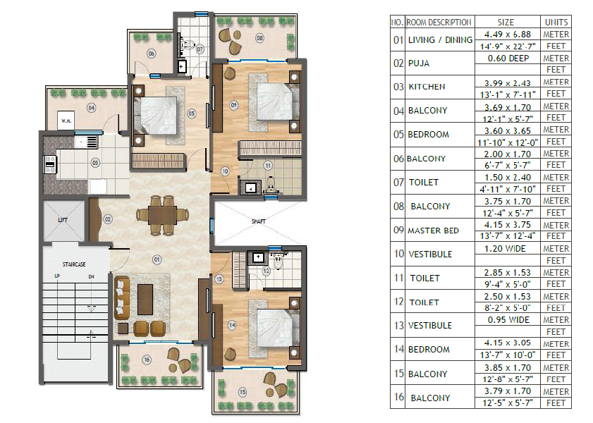 Adani Samsara Vilasa Sector 63 Gurgaon Floor Plan Brochure